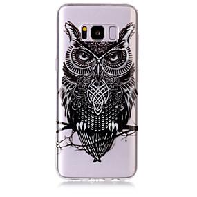 voordelige Galaxy S7 Edge Hoesjes / covers-hoesje Voor Samsung Galaxy S8 Plus / S8 / S7 edge IMD / Transparant / Patroon Achterkant Uil Zacht TPU