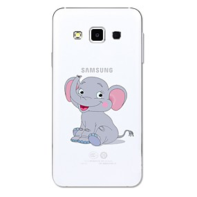 voordelige Galaxy A3(2016) Hoesjes / covers-hoesje Voor Samsung Galaxy A3 (2017) / A5 (2017) / A5(2016) Transparant / Patroon Achterkant dier / Cartoon / Olifant Zacht TPU