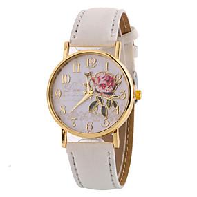 ieftine Cuarț ceasuri-Pentru femei femei Ceas de Mână Quartz Charm Ceas Casual Analog Alb Negru Verde / Un an / Piele / Un an / SSUO LR626