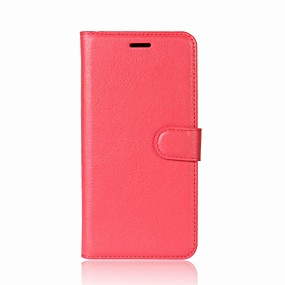 cheap Galaxy A9(2016) Cases / Covers-Case For Samsung Galaxy A5(2018) / Galaxy A7(2018) / A3(2017) Wallet / Card Holder / with Stand Full Body Cases Solid Colored Hard PU Leather