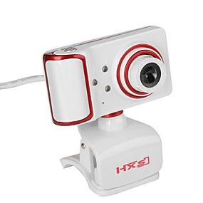 olcso Webkamerák-usb webkamera forgatható fókuszszög pc kamera beépített mikrofon / 3 LED / klip stílus / HD kijelző