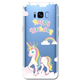 voordelige Galaxy S6 Edge Plus Hoesjes / covers-hoesje Voor Samsung Galaxy S8 Plus / S8 / S7 edge Patroon Achterkant Woord / tekst / Eenhoorn / Cartoon Zacht TPU