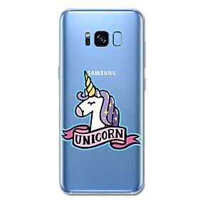 voordelige Galaxy S6 Edge Plus Hoesjes / covers-hoesje Voor Samsung Galaxy S8 Plus S8 Patroon Achterkantje Eenhoorn dier Cartoon Zacht TPU voor S8 S8 Plus S7 S6 edge plus S6 edge S6