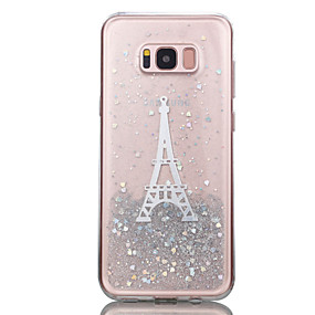 voordelige Galaxy S7 Edge Hoesjes / covers-hoesje Voor Samsung Galaxy S8 Plus / S8 / S7 edge Transparant / Patroon Achterkant Eiffeltoren / Glitterglans Zacht TPU