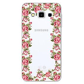 voordelige Galaxy A5(2016) Hoesjes / covers-hoesje Voor Samsung Galaxy A3 (2017) / A5 (2017) / A5(2016) Transparant / Patroon Achterkant Cartoon / Bloem Zacht TPU