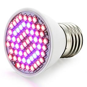 Недорогие Лампы для теплиц-Светодиодный светильник для выращивания растений 85-265В 2,5 Вт 360-420LM E26 / E27 60 светодиодных шариков smd 2835 красный синий RoHS FCC комнатные растения growbox
