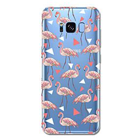 voordelige Galaxy S6 Edge Plus Hoesjes / covers-hoesje Voor Samsung Galaxy S8 Plus S8 Patroon Achterkantje Tegel Flamingo Cartoon Zacht TPU voor S8 S8 Plus S7 edge S7 S6 edge plus S6