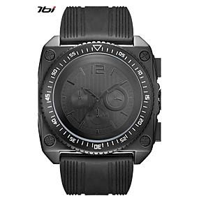 זול שעוני מותגים-SINOBI בגדי ריקוד גברים שעוני ספורט שעונים צבאיים Japanese קווארץ סיליקוןריצה שחור 30 m עמיד לזעזועים מגניב צג גדול אנלוגי שחור