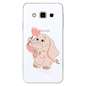 voordelige Galaxy A3(2016) Hoesjes / covers-hoesje Voor Samsung Galaxy A3 (2017) / A5 (2017) / A5(2016) Transparant / Patroon Achterkant Cartoon / Olifant Zacht TPU