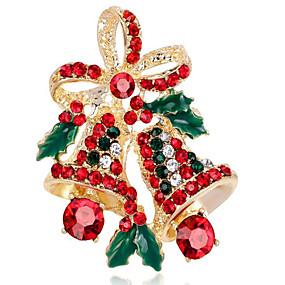 olcso Karácsonyi ékszerek-Női Szintetikus gyémánt Melltűk Virág hölgyek Bross Ékszerek Arany Ezüst Kompatibilitás Karácsony