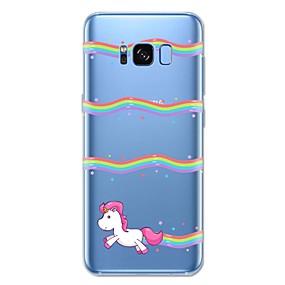 voordelige Galaxy S6 Edge Plus Hoesjes / covers-hoesje Voor Samsung Galaxy S8 Plus / S8 / S7 edge Patroon Achterkant Eenhoorn / dier / Cartoon Zacht TPU