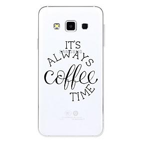 voordelige Galaxy A8 Hoesjes / covers-hoesje Voor Samsung Galaxy A3 (2017) / A5 (2017) / A7 (2017) Patroon Achterkant Woord / tekst Zacht TPU