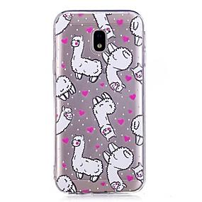 voordelige Galaxy J3 Hoesjes / covers-hoesje Voor Samsung Galaxy J7 Prime / J7 (2017) / J7 (2016) IMD / Transparant / Patroon Achterkant dier Zacht TPU