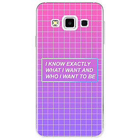 voordelige Galaxy A7(2016) Hoesjes / covers-hoesje Voor Samsung Galaxy A3 (2017) / A5 (2017) / A7 (2017) Patroon Achterkant Woord / tekst / Geometrisch patroon Zacht TPU