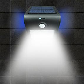 Χαμηλού Κόστους Ηλιακά φώτα LED-παρατεταμένο 1 τεμ. 2w οδήγησε αισθητήρα ανθρώπινου σώματος αδιάβροχο εξωτερικό πλημμύρα λευκό φως χρυσό / άσπρο / ασημί / μαύρο