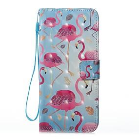 voordelige Galaxy S7 Hoesjes / covers-hoesje Voor Samsung Galaxy S8 Plus / S8 / S7 edge Portemonnee / Kaarthouder / met standaard Volledig hoesje Flamingo Hard PU-nahka