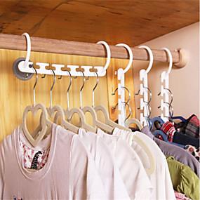 رخيصةأون تخزين وتنظيم-البلاستيك المنزلية توفير مساحة عدم الانزلاق الشماعات متعددة الوظائف أضعاف الملابس شماعات شماعات سحرية مفيدة