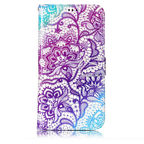 Недорогие Чехлы и кейсы для Galaxy J3-Кейс для Назначение SSamsung Galaxy J7 (2017) / J7 (2016) / J5 (2017) Кошелек / Бумажник для карт / со стендом Чехол Цветы Твердый Кожа PU