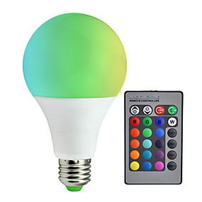 abordables Ampoules Intelligentes LED-1pc 10 W 800 lm E26 / E27 Ampoules LED Intelligentes A80 6 Perles LED SMD 5050 Intensité Réglable / Commandée à Distance / Décorative RGBW