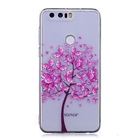 voordelige Huawei Honor hoesjes / covers-hoesje Voor Huawei P9 Lite / Huawei / Huawei P8 Lite P10 Lite / Huawei P9 Lite / Huawei P8 Lite IMD / Transparant / Patroon Achterkant Vlinder / Boom Zacht TPU