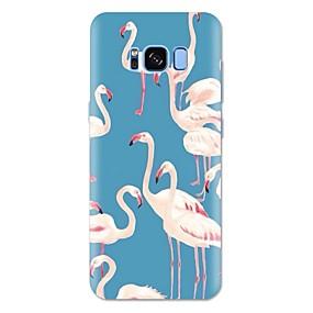 voordelige Galaxy S6 Edge Plus Hoesjes / covers-hoesje Voor Samsung Galaxy S8 Plus / S8 / S7 edge Patroon Achterkant Flamingo / dier Zacht TPU