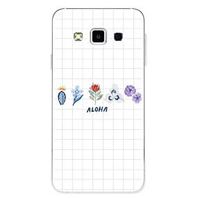 voordelige Galaxy A7(2016) Hoesjes / covers-hoesje Voor Samsung Galaxy A3 (2017) / A5 (2017) / A7 (2017) Patroon Achterkant Geometrisch patroon / Bloem Zacht TPU