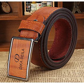 cheap Top Sellers-Men's Party / Work / Active Leather Waist Belt - Solid Colored