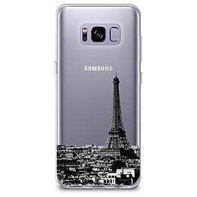 voordelige Galaxy S6 Edge Plus Hoesjes / covers-hoesje Voor Samsung Galaxy S8 Plus / S8 / S7 edge Ultradun / Transparant / Patroon Achterkant Uitzicht op de stad Zacht TPU