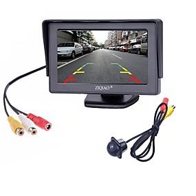 voordelige Auto-elektronica-ziqiao® 2 in1 tft 4.3 inch auto tft lcd achteruitkijkspiegel parking kleurenmonitor led nachtzicht ccd achteruitrijcamera met auto monitoren