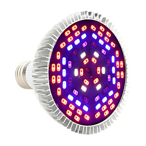 olcso Növényvilágítás-YWXLIGHT® 1db 12 W Növekvő izzólámpa 1050-1150 lm E27 PAR30 78 LED gyöngyök SMD 5730 Dekoratív Lila 85-265 V