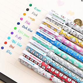 olcso Ajándék-Gel Pen Toll Gél tollak Toll, Műanyag Piros / Fekete / Kék Ink Colors Kompatibilitás Iskolai felszerelés Irodaszerek Csomag 10 pcs