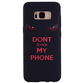 voordelige Galaxy S7 Edge Hoesjes / covers-hoesje Voor Samsung Galaxy S8 Plus / S8 / S7 edge Patroon Achterkant Woord / tekst Zacht Siliconen