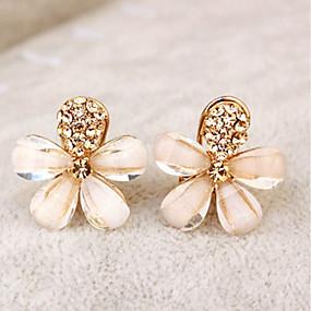 povoljno Nakit i ručni satovi-Žene Klipse Cvijet dame Elegantno Umjetno drago kamenje Naušnice Jewelry Zlato Za Party Dnevno