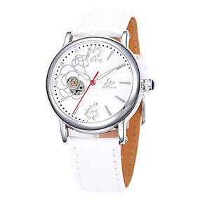 olcso Mechanikus óra-Női mechanikus Watch Automatikus önfelhúzós Bőr Fekete / Fehér / Piros 30 m Vízálló Analóg Amulett - Bíbor Barna Piros
