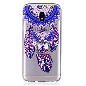 voordelige Galaxy J3 Hoesjes / covers-hoesje Voor Samsung Galaxy J7 (2017) / J7 (2016) / J5 (2017) Ringhouder / Transparant / Patroon Achterkant Dromenvanger Zacht TPU