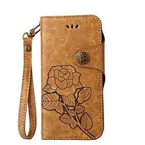 billige Etuier/covers til Huawei Honor-Etui Til Huawei P9 / Huawei P9 Lite / Huawei P8 P10 Lite / P10 / Huawei P9 Lite Pung / Kortholder / Med stativ Fuldt etui Blomst Hårdt PU Læder
