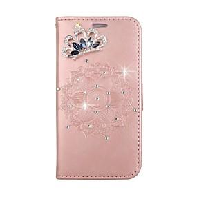 voordelige Galaxy S7 Hoesjes / covers-hoesje Voor Samsung Galaxy S8 Plus / S8 / S7 edge Portemonnee / Kaarthouder / Strass Volledig hoesje Mandala Hard PU-nahka