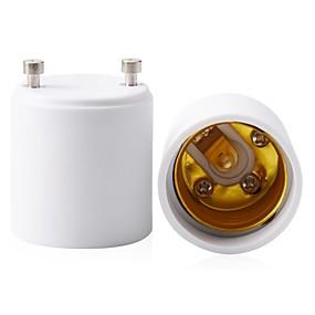 billiga Nätaggregat-2-packs gu24 till e26 e27 adapter maximal watt 1000w värmebeständig upp till 200 brandbeständig omvandlare gu24 pin basfäste till e26 e27 standard skruv