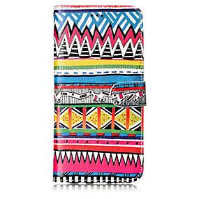 voordelige Galaxy S7 Hoesjes / covers-hoesje Voor Samsung Galaxy S8 Plus / S8 / S7 edge Portemonnee / Kaarthouder / met standaard Volledig hoesje Lijnen / golven Hard PU-nahka