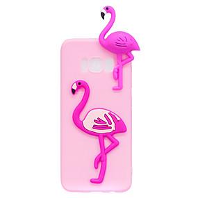 voordelige Galaxy S7 Edge Hoesjes / covers-hoesje Voor Samsung Galaxy S8 Plus / S8 / S7 edge Patroon / DHZ Achterkant Flamingo / 3D Cartoon Zacht TPU