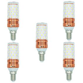 رخيصةأون أضواء LED ذرة-BRELONG® 5pcs 12 W أضواء LED ذرة 1000 lm E14 T 60 الخرز LED SMD 2835 أبيض دافئ أبيض المزدوج مصدر الضوء اللون 220-240 V