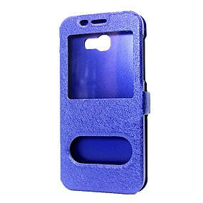 cheap Galaxy A9(2016) Cases / Covers-Case For Samsung Galaxy A3(2017) / A5(2017) / A7(2017) Wallet / with Stand / with Windows Full Body Cases Solid Colored Hard PU Leather