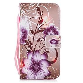 voordelige Galaxy J3(2017) Hoesjes / covers-hoesje Voor Samsung Galaxy J3 (2017) Portemonnee / Kaarthouder / met standaard Volledig hoesje Vlinder Hard PU-nahka