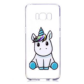 voordelige Galaxy S7 Hoesjes / covers-hoesje Voor Samsung Galaxy S8 Plus / S8 / S7 edge Transparant / Patroon Achterkant Eenhoorn Zacht TPU