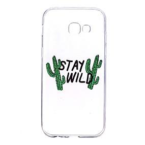 voordelige Galaxy A5(2016) Hoesjes / covers-hoesje Voor Samsung Galaxy A3 (2017) / A5 (2017) / A5(2016) Transparant / Patroon Achterkant Woord / tekst Zacht TPU