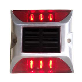 olcso Napelemes LED világítás-1db 6 W LED projektorok Dekoratív Piros <5 V Kültéri világítás 6 LED gyöngyök
