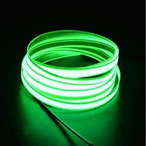 ieftine Fâșii Becurie LED-brelong 1 buc 3m șnur lumină 0led 2.3mm dc12v el alb / roșu / albastru / roz / verde / portocaliu / albastru deschis