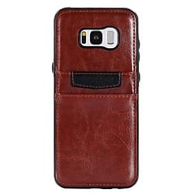voordelige Galaxy S7 Edge Hoesjes / covers-hoesje Voor Samsung Galaxy S8 Plus / S8 / S7 edge Kaarthouder / Schokbestendig / Ultradun Achterkant Effen Zacht PU-nahka