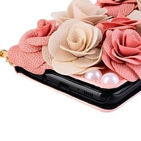 Недорогие Чехлы и кейсы для Galaxy Note 8-Кейс для Назначение Note 8 / Note 5 / Note 4 Кошелек / Бумажник для карт / со стендом Чехол Цветы Твердый Кожа PU
