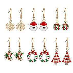 olcso Karácsonyi ékszerek-Női Kocka cirkónia Függők Karácsonyfa hölgyek Cirkonium Arannyal bevont Fülbevaló Ékszerek Szivárvány Kompatibilitás Karácsony Új Év 6